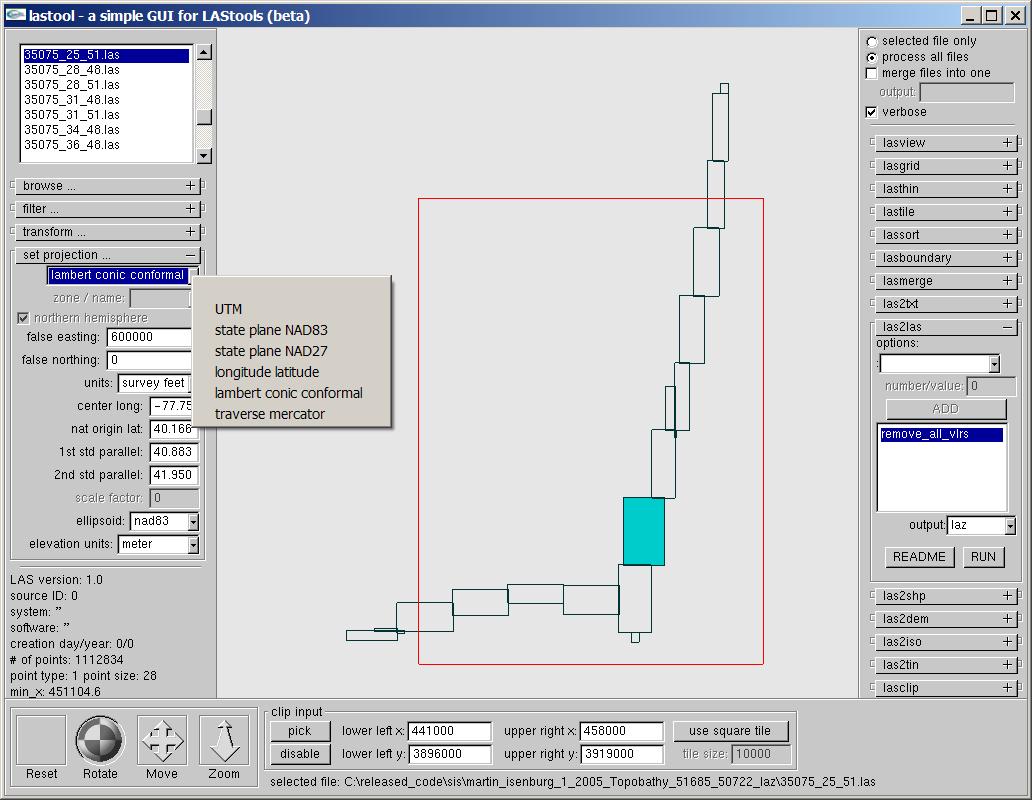 LAStools: converting, filtering, viewing, processing, and