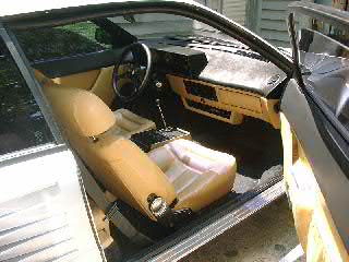Ferrari Mondial Interior.  No plastic - everything is leather or wool.