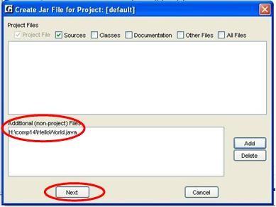 Creating a Jar File