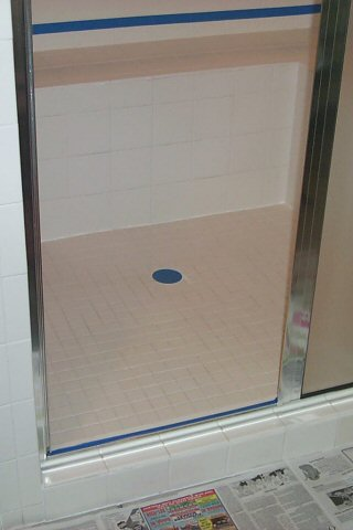 Our shower before the repair